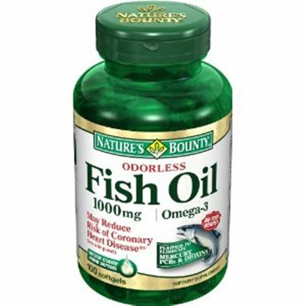 Nature 39 s bounty omega 3 fish oil 1000 mg softgels 100 soft for Fish oil 1000 mg