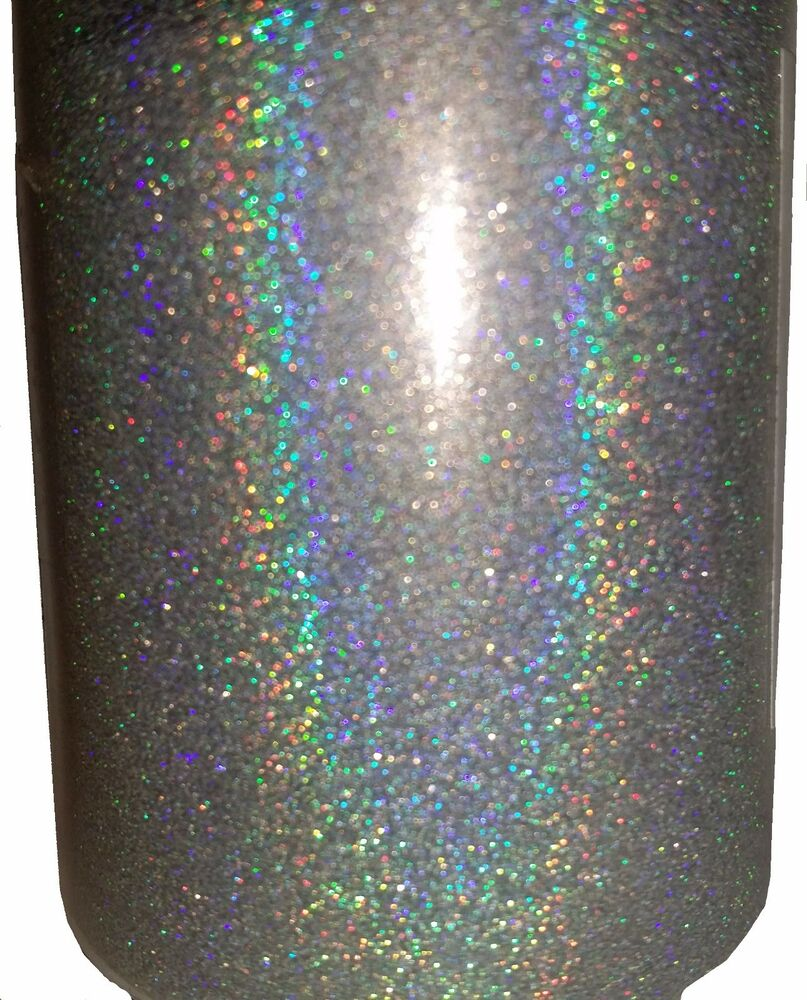 Extra Fine Holographic Chrome Nail Art Powder: Silver Holographic .004 True Ultra Fine Nail Glitter Art