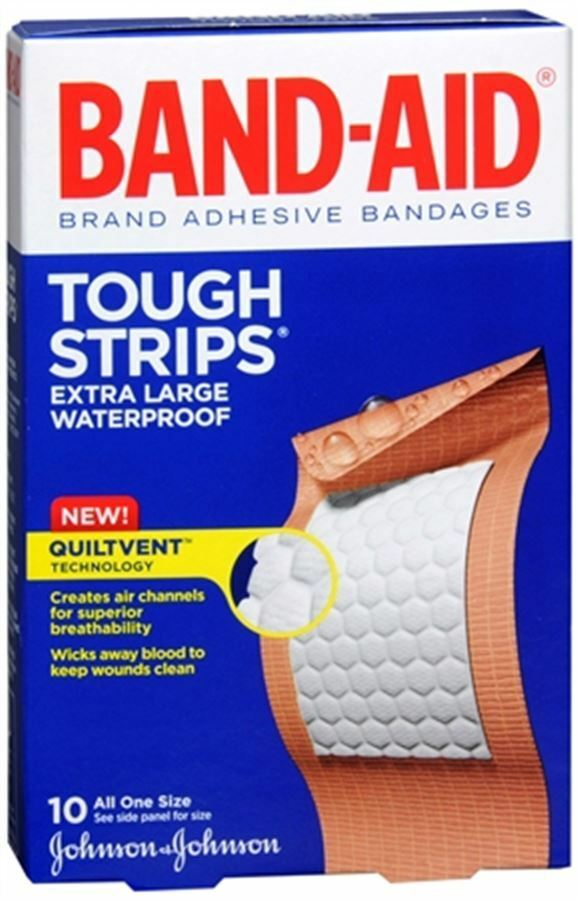Band-Aid Tough-Strips Bandages Extra Large Walgreens
