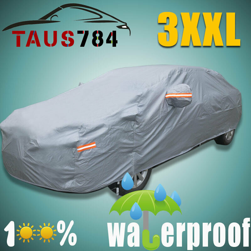 new full cotton car cover waterproof outdoor sun uv dust. Black Bedroom Furniture Sets. Home Design Ideas