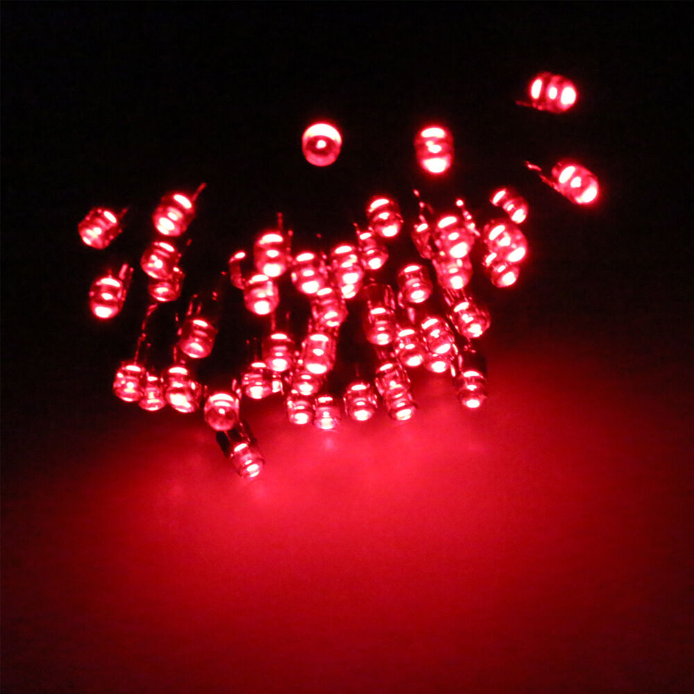 Solar Powered Led String Lights Red : 100 LED Solar Power Fairy Lights String Lamp Party Xmas Garden In/Outdoor Red eBay
