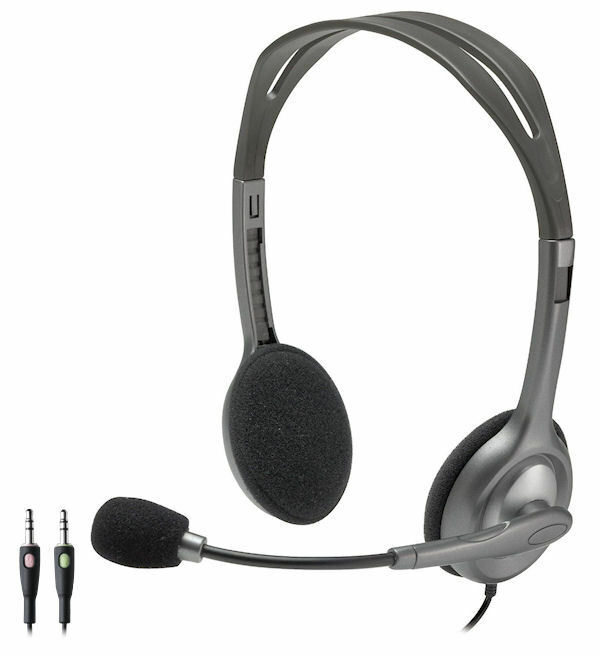 Logitech earphones with mic - game earphone with microphone