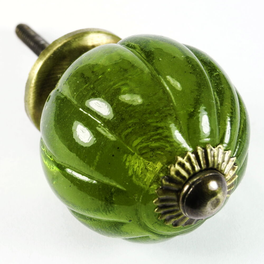 Kitchen Cabinet Glass Knobs: Peridot Glass Cabinet Knobs, Cupboard Drawer Pulls Or