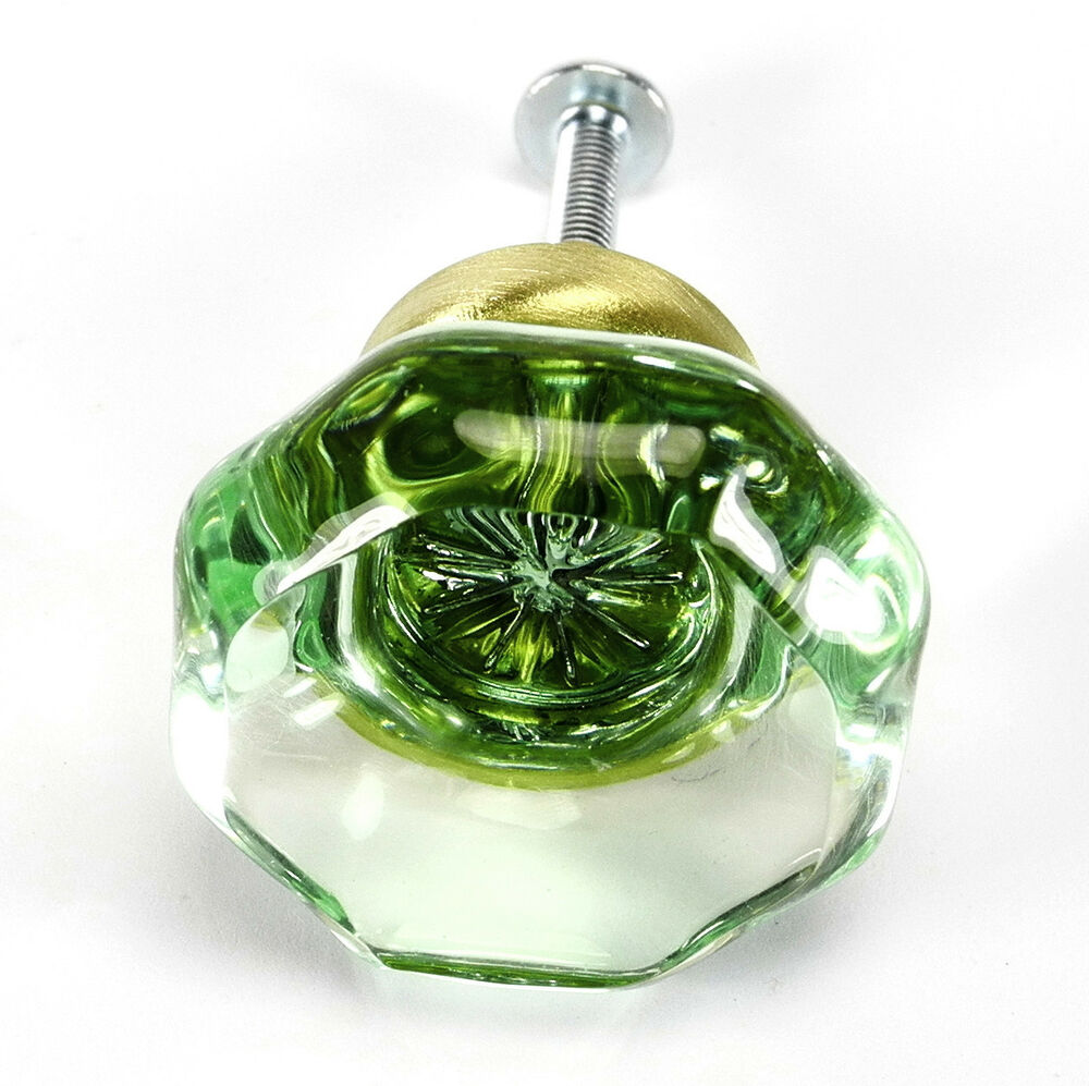 Kitchen Cabinets With Glass Knobs: 8 Coke Green Glass Knobs 24% Crystal Kitchen Cabinet