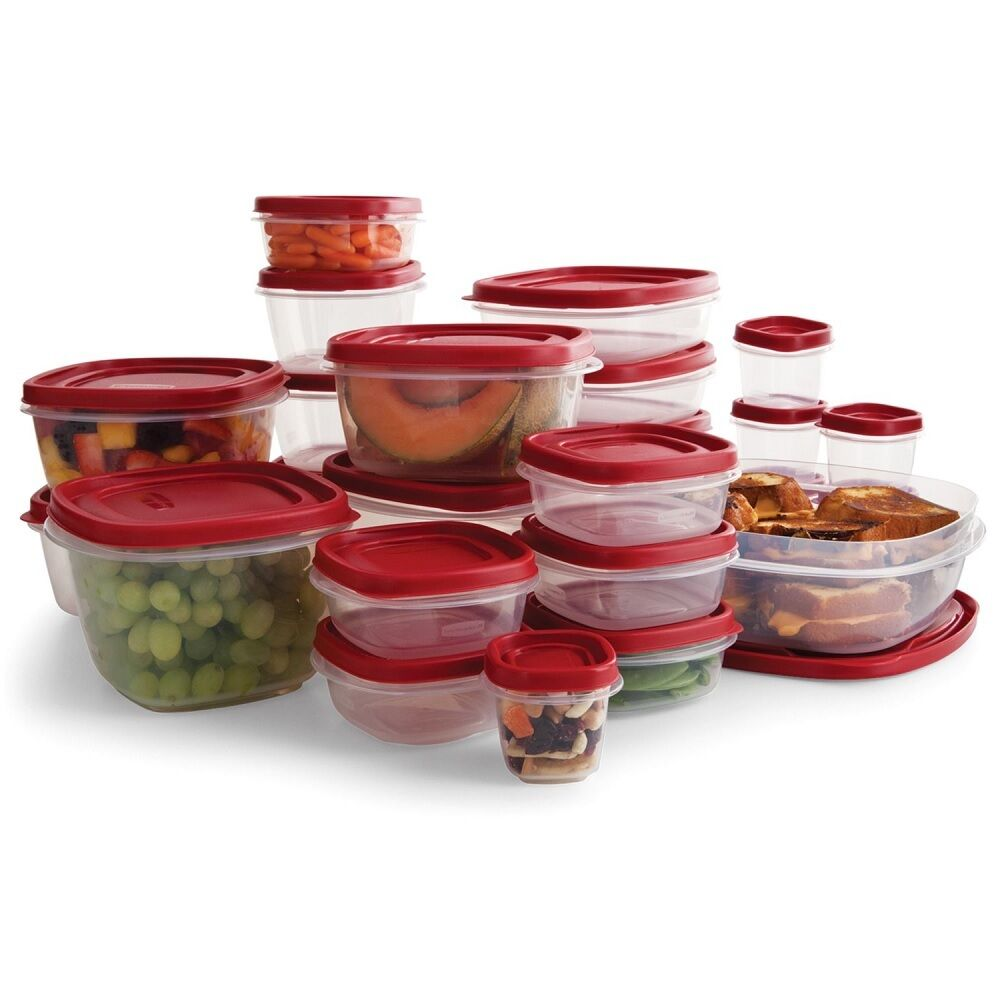 Easy Find Lids Clear Plastic Food Storage Container Set 50