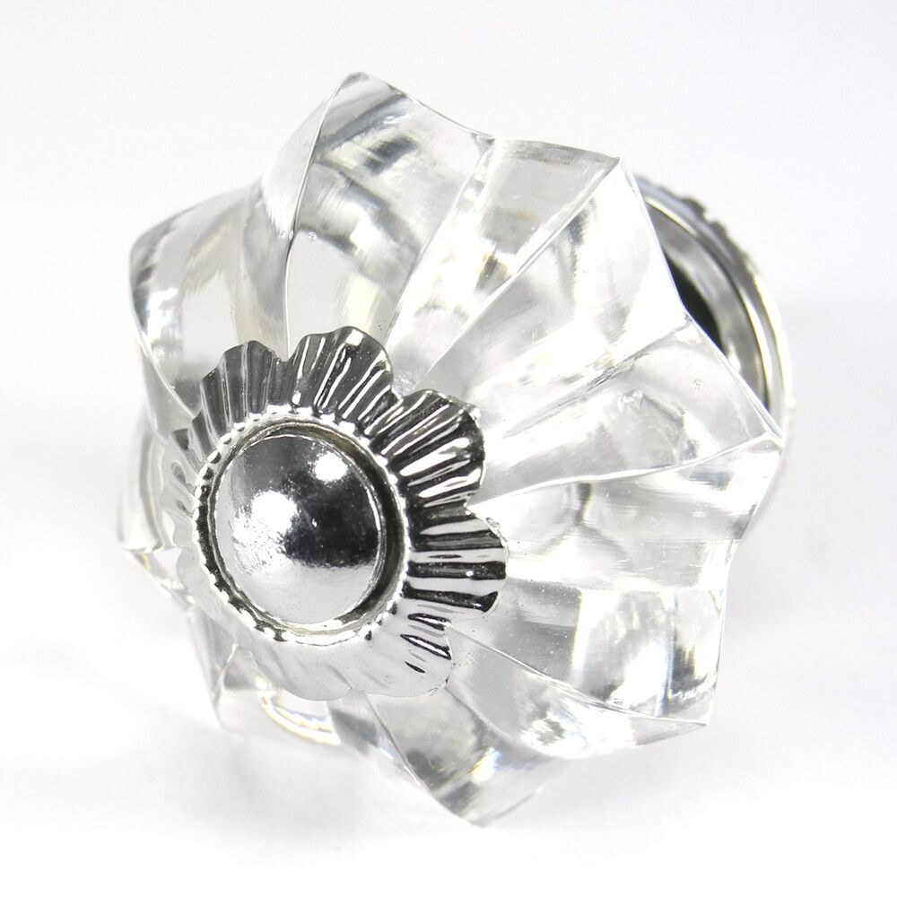 Clear Glass Cabinet Knobs, Kitchen Drawer Pulls Or Cabinet