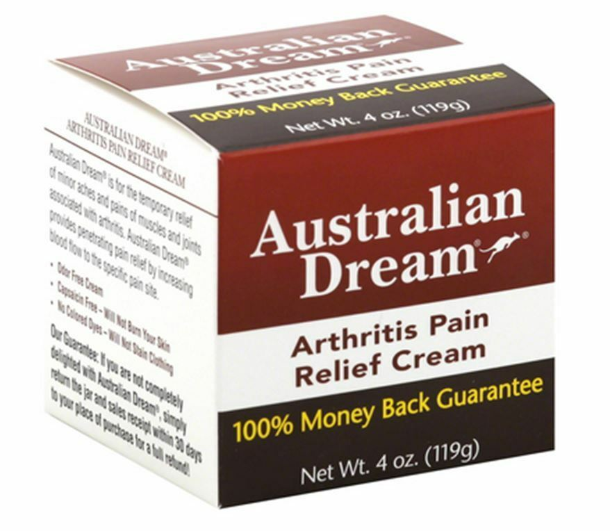 Arthritis Pain Relief Cream 4 oz ( g) Australian Dream is for the temporary relief of minor aches and pains of muscles and joints associated with arthritis.