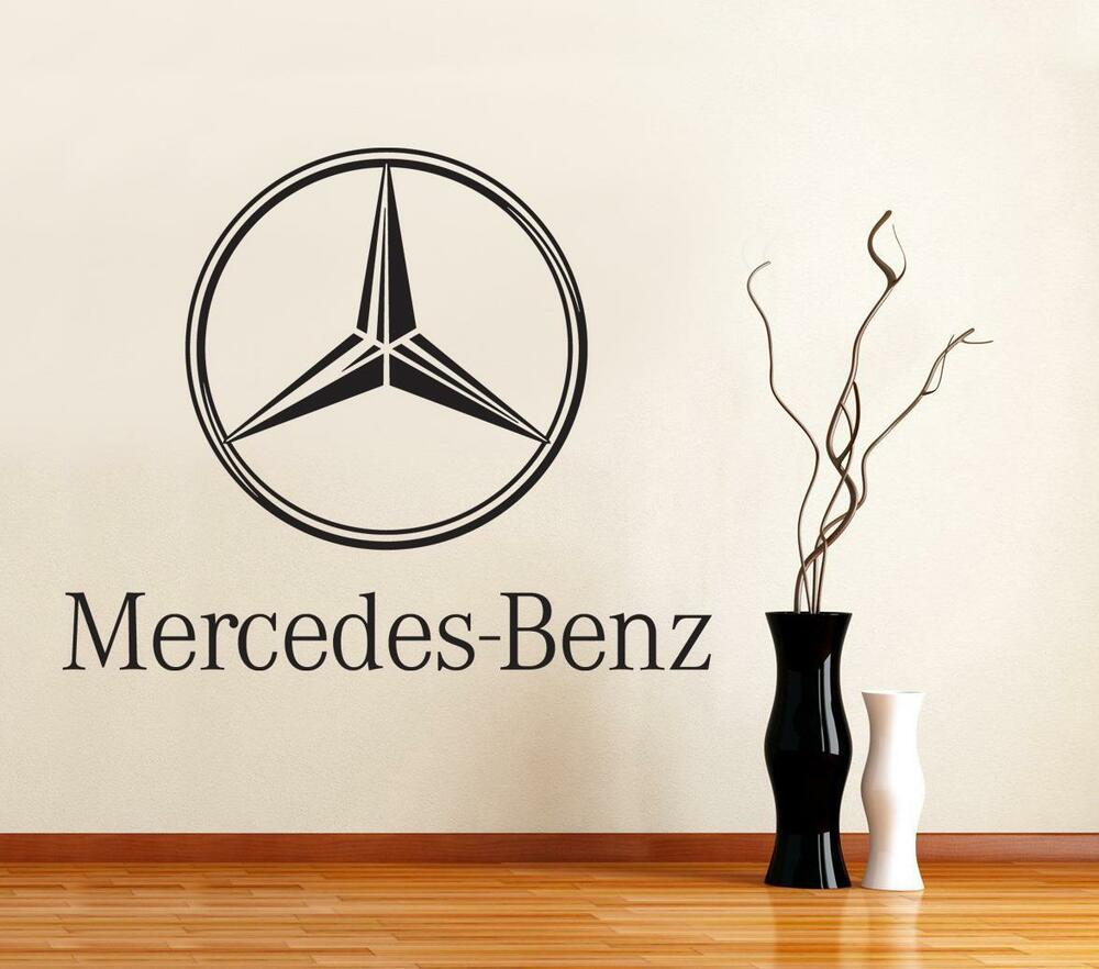 Mercedes benz logo car decal removable wall sticker for Mercedes benz wall posters