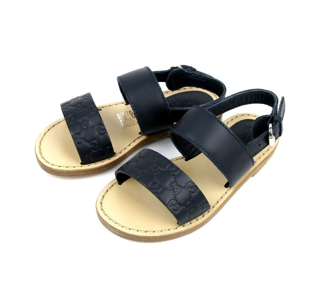 New Authentic Gucci Kids Guccissima Leather Sandal 29/US ...