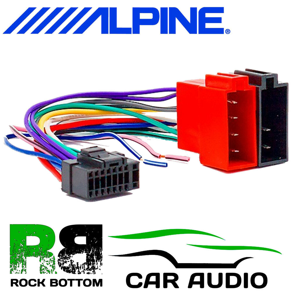 alpine cde 7853r car radio stereo 16 pin wiring harness loom iso sony wiring  harness alpine wiring harness