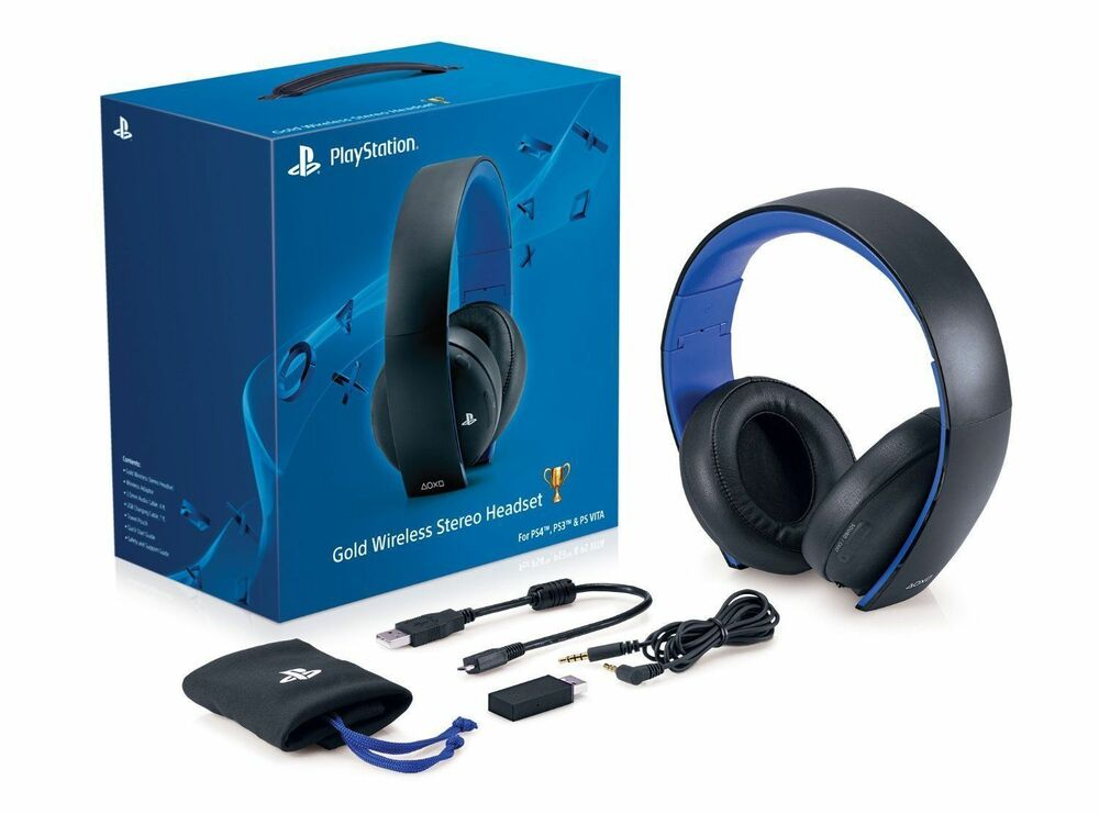 Playstation Wireless Gaming 7.1 Surround Headphones Stereo Headset ...