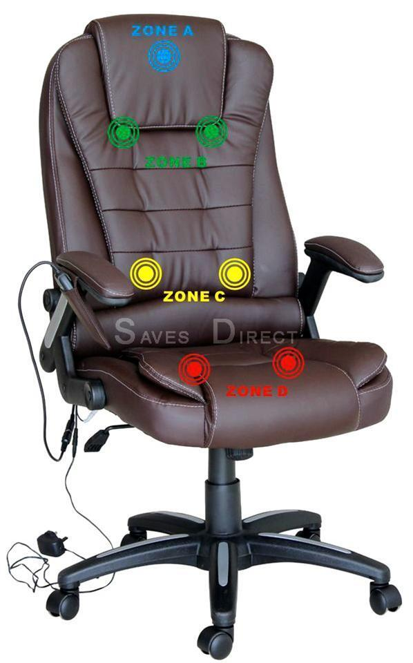 Luxury Leather Computer Study Reclining Office Chair With