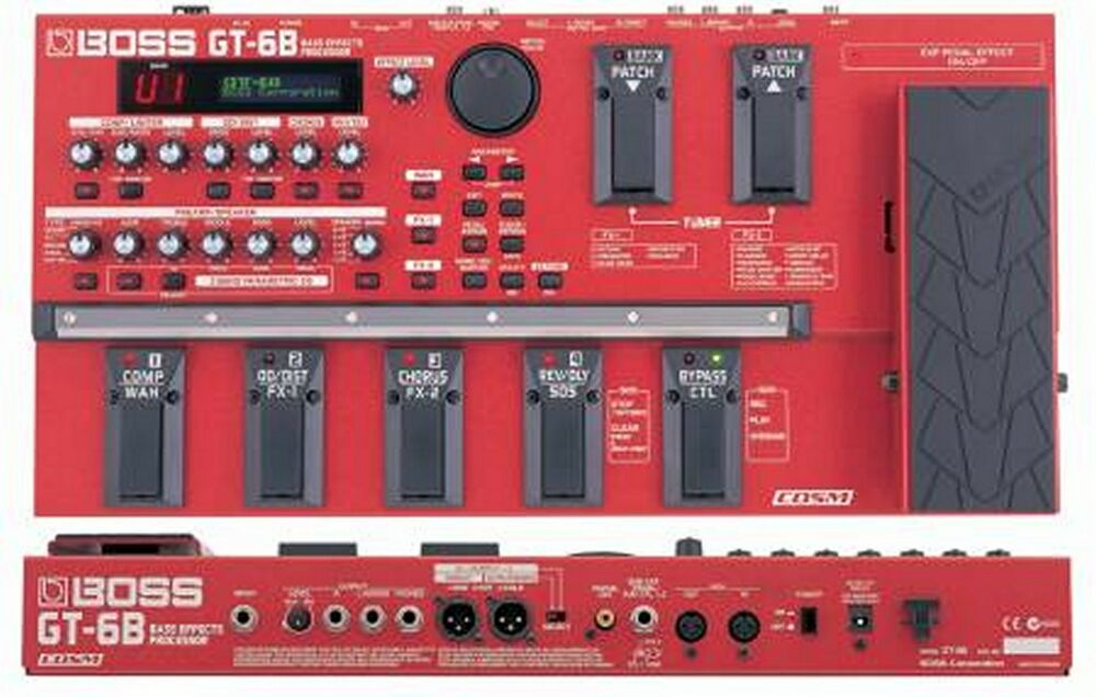 boss gt 6b bass guitar multi effects pedal processor. Black Bedroom Furniture Sets. Home Design Ideas
