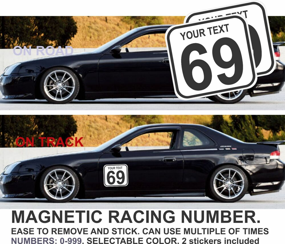 2x race car number magnetic door jdm prelude rally bumber civic accord ebay