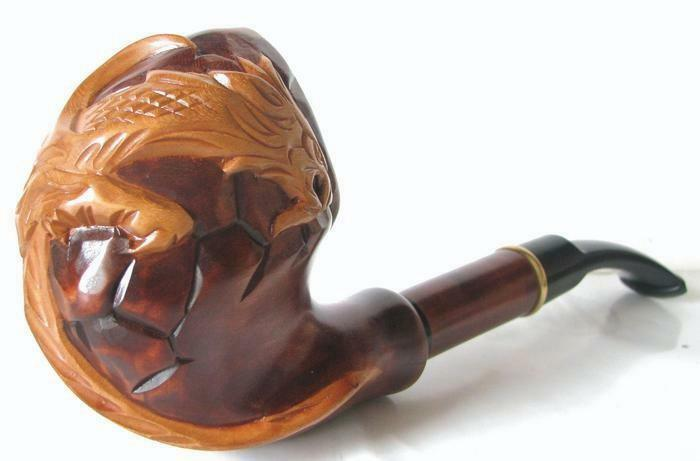 Carved Stone Pipe : New style difficult hand carved tobacco smoking pipe pipes