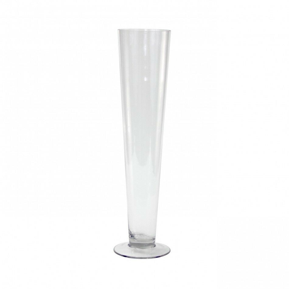 Clear Trumpet Pilsner Centerpiece Glass Vase 20 Quot Height