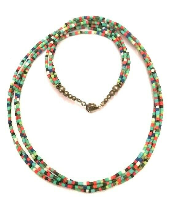Afghan Mixed Coral Turquoise Jade Lapis Tiny Seed Beads ...