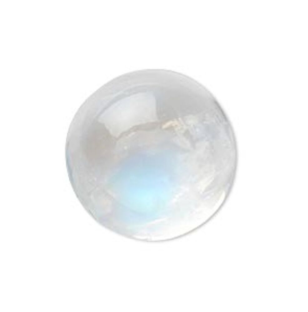 Natural Rainbow Moonstone Aaa Round Cabochon 3mm 15mm