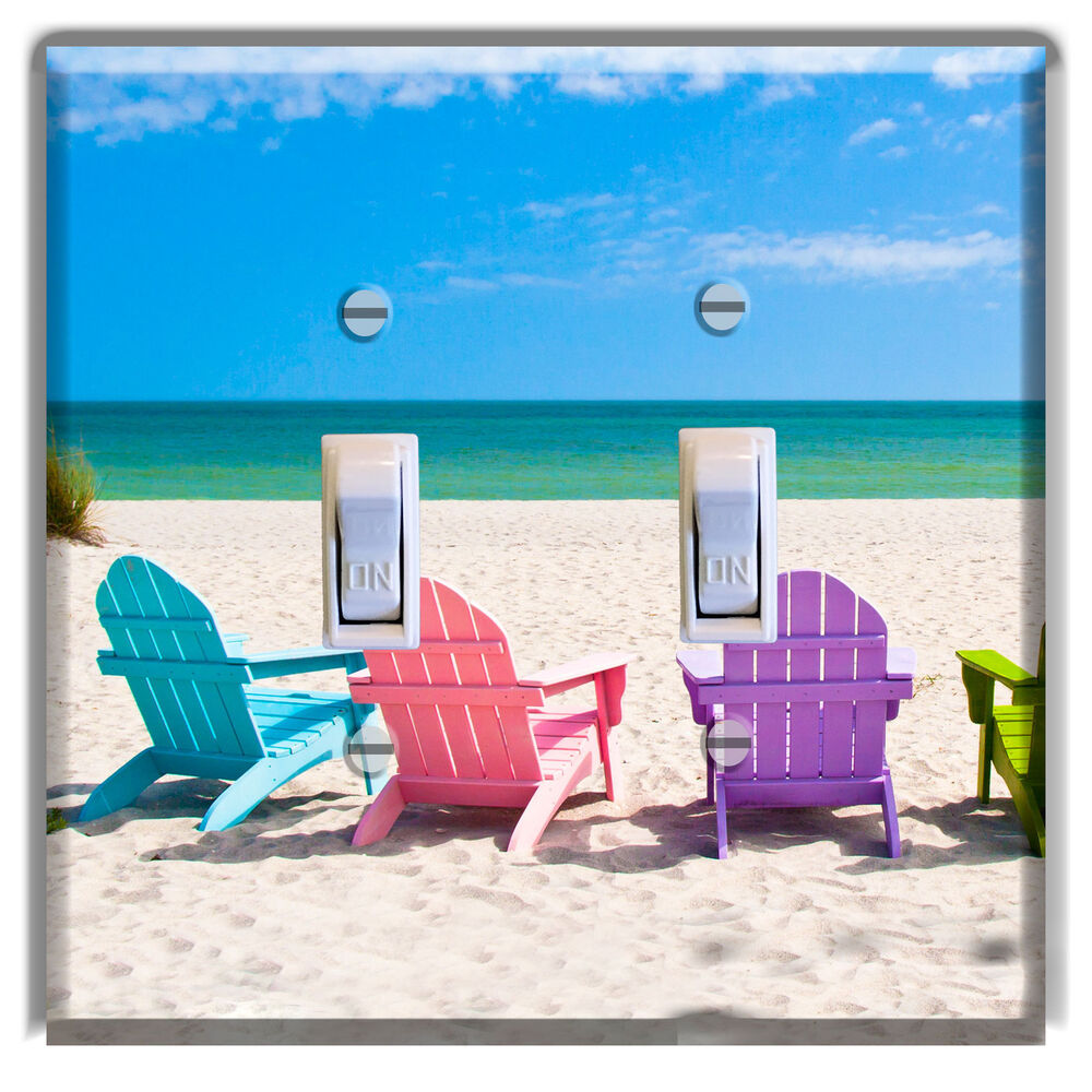Adirondack Chairs Beach Light Switch Cover Plate Wall