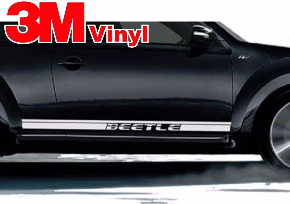 1998-2016 Volkswagen Beetle Rocker Panel Vinyl Graphics Decals Stripes 1 3M | eBay