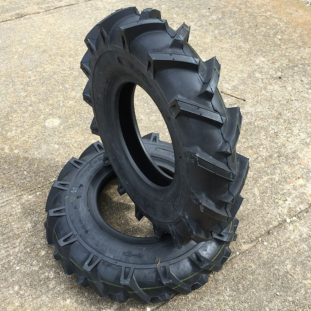 two new deestone d402 lug heavy duty tiller tires garden tractor tires ebay