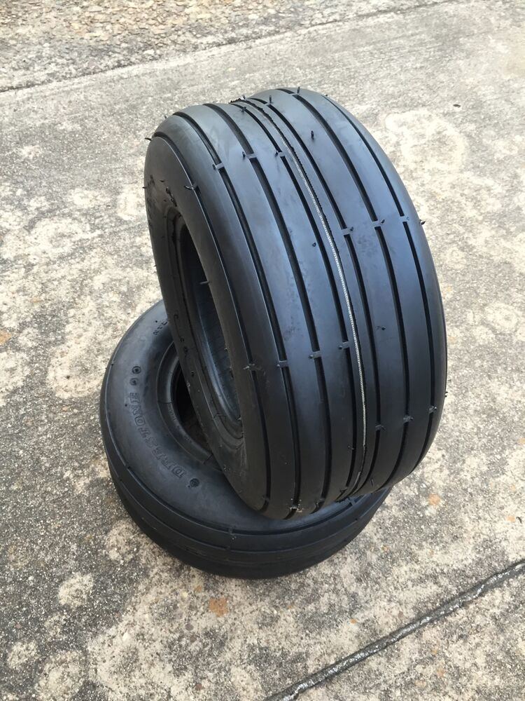 Lawn And Garden Tractor Tires : Two new deestone d rib tread riding lawn