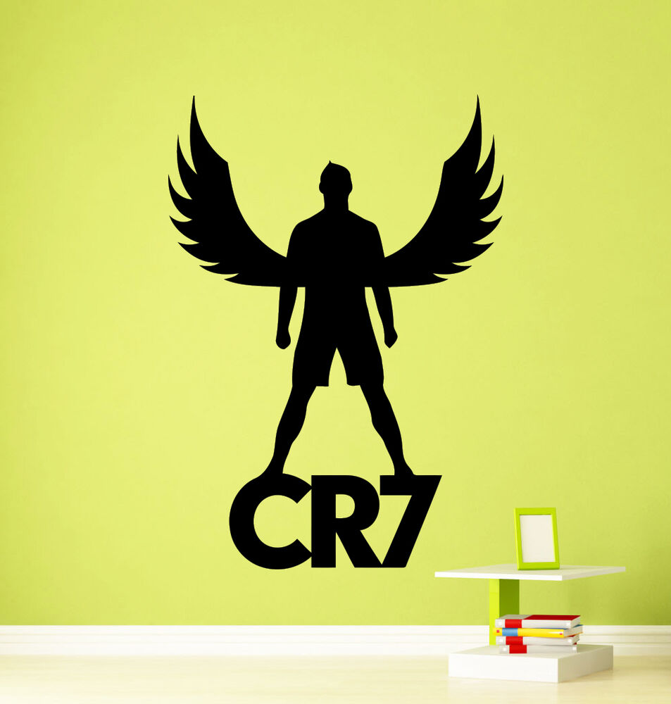 Cristiano ronaldo cr7 wall decal football real vinyl for Cristiano ronaldo wall mural