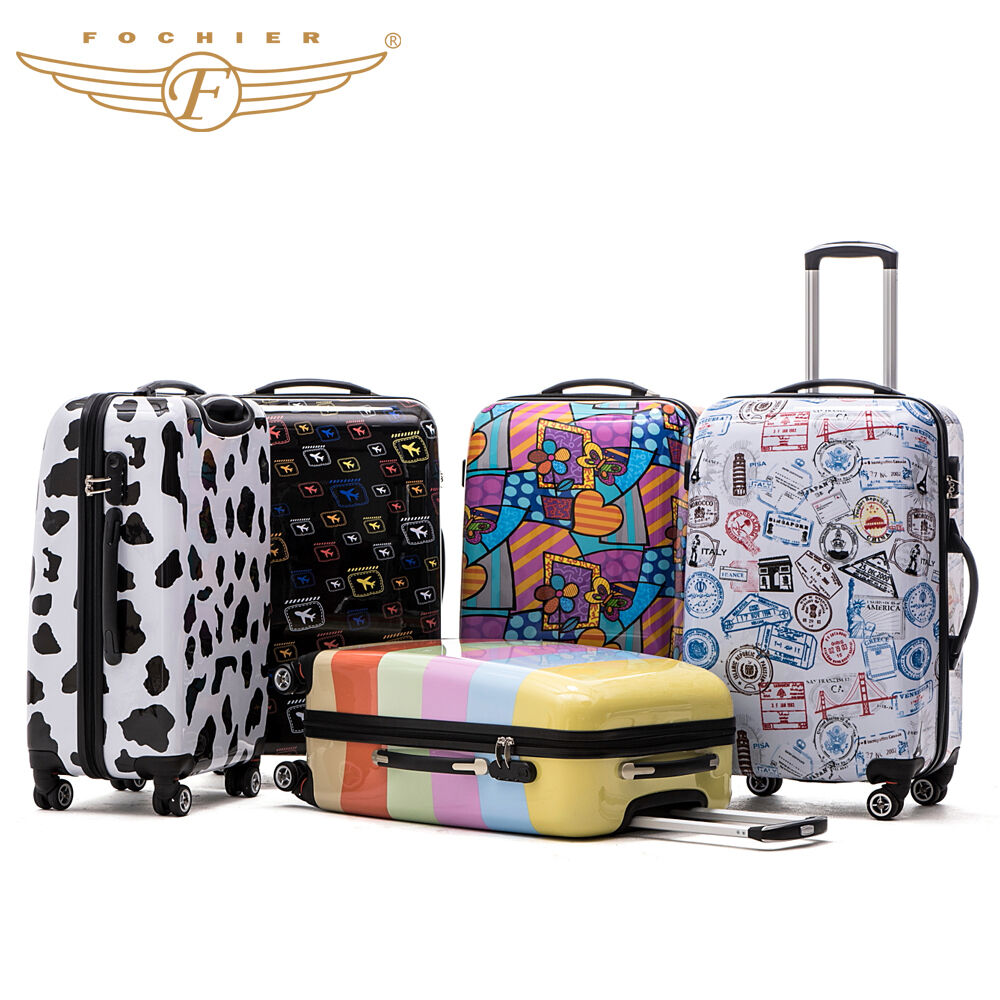 hard shell rolling luggage suitcase 4wheel abs pc travel. Black Bedroom Furniture Sets. Home Design Ideas