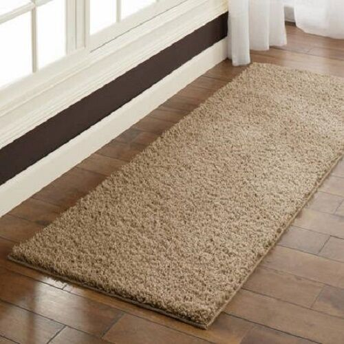 shag runner rug hallway kitchen living bedroom dense soft non skid nonfade 2 39 x6 39 ebay. Black Bedroom Furniture Sets. Home Design Ideas