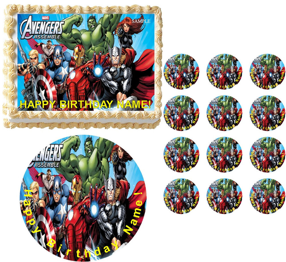The Avengers Edible Cake Topper Image Frosting Cake ...