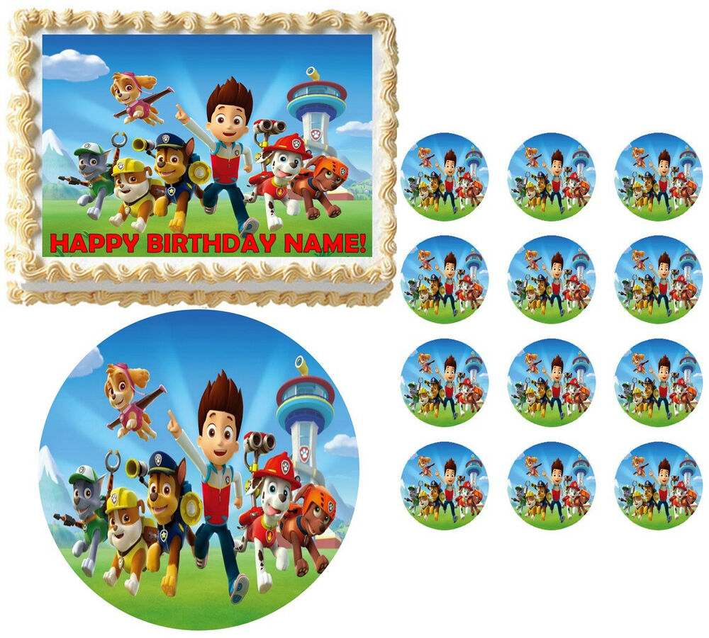 paw patrol edible cake topper paw patrol characters edible cake topper image many sizes 6397