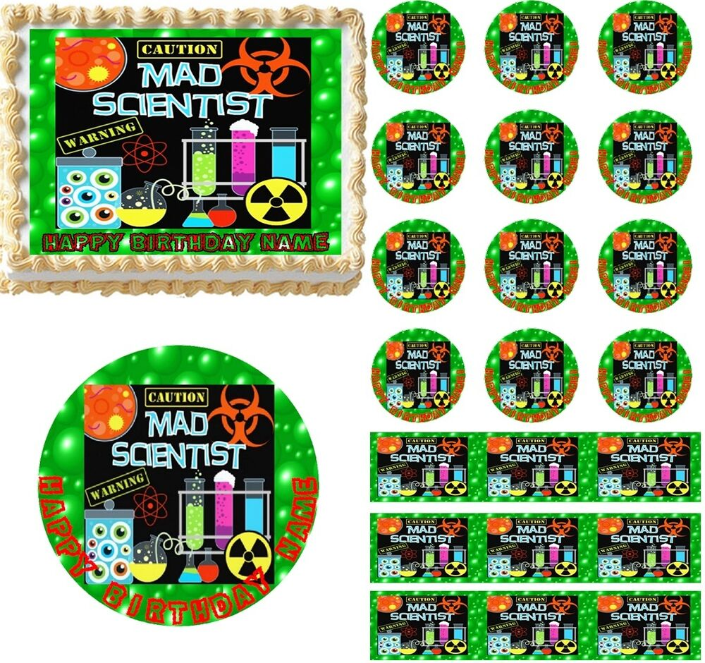 MAD SCIENTIST Bubbling Potion Theme Edible Cake Topper ...