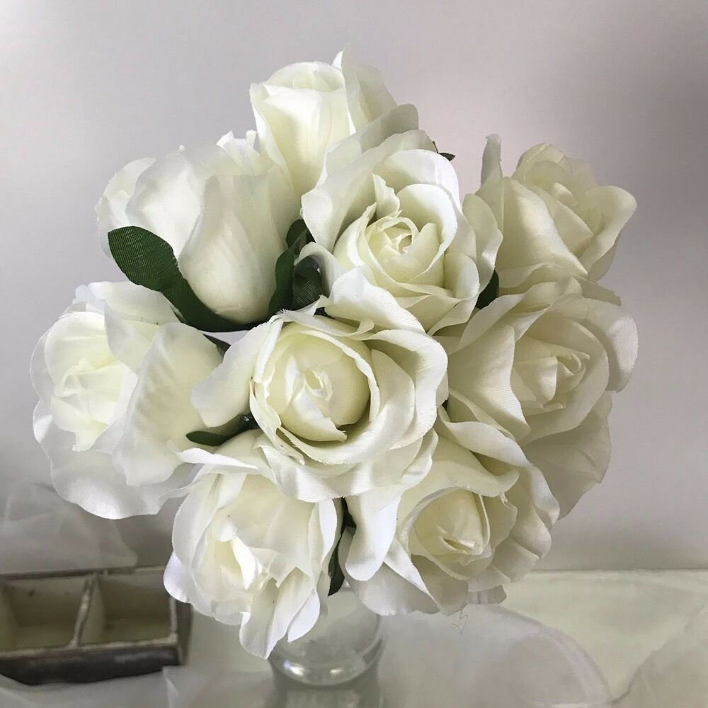 pre made bouquets for weddings silk wedding bouquet white flower pre made posy 6743
