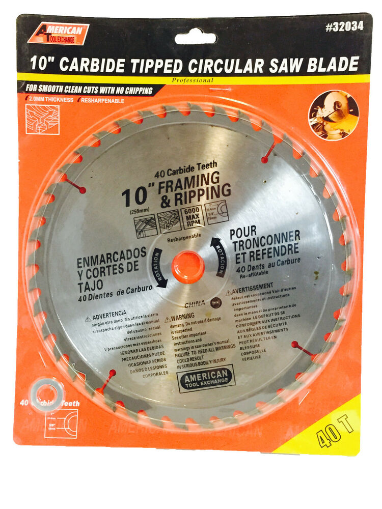 New 10 Quot Carbide Tipped Circular Saw Blade 40 Teeth For