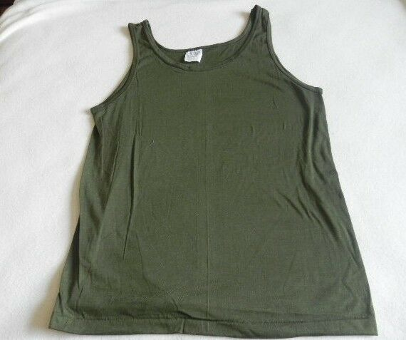 New men 39 s t shirt tank top od green size xl sportswear 50 for 50 percent cotton 50 percent polyester t shirts