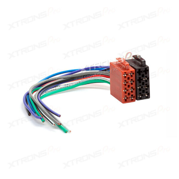 Universal Automobile Wiring Harness : Xtrons universal male iso radio adapter car stereo wiring
