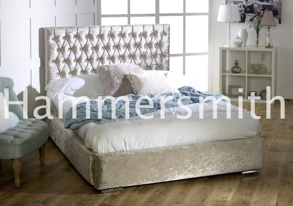 Cheap bed frame double king size velvet beds new and cheap for Cheap king size bed