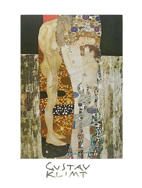 gustav klimt die drei lebensalter poster kunstdruck bild 80x60cm ebay. Black Bedroom Furniture Sets. Home Design Ideas