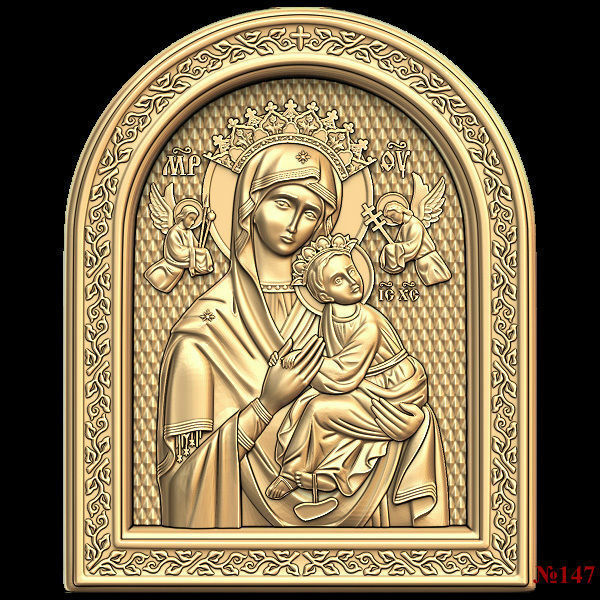 (147) 3d STL Model Religion Icon For CNC Router 3D Printer