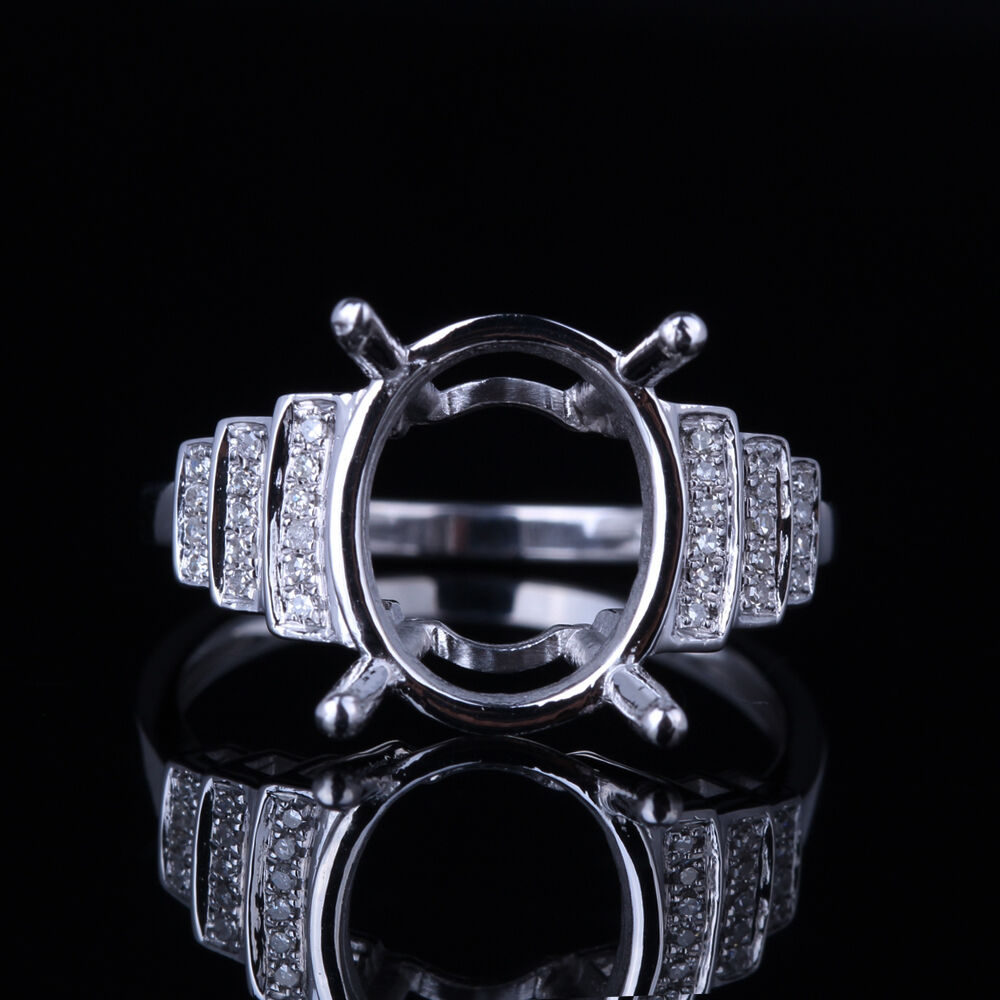 sterling silver 925 real diamonds semi mount setting With sterling silver wedding rings with real diamonds