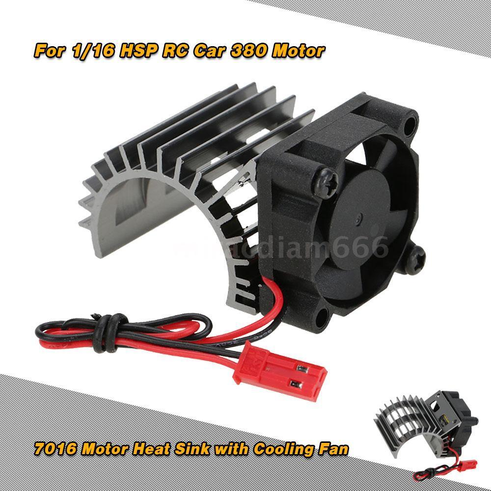 7016 Motor Heat Sink With Cooling Fan For 1 16 Hsp Rc Car