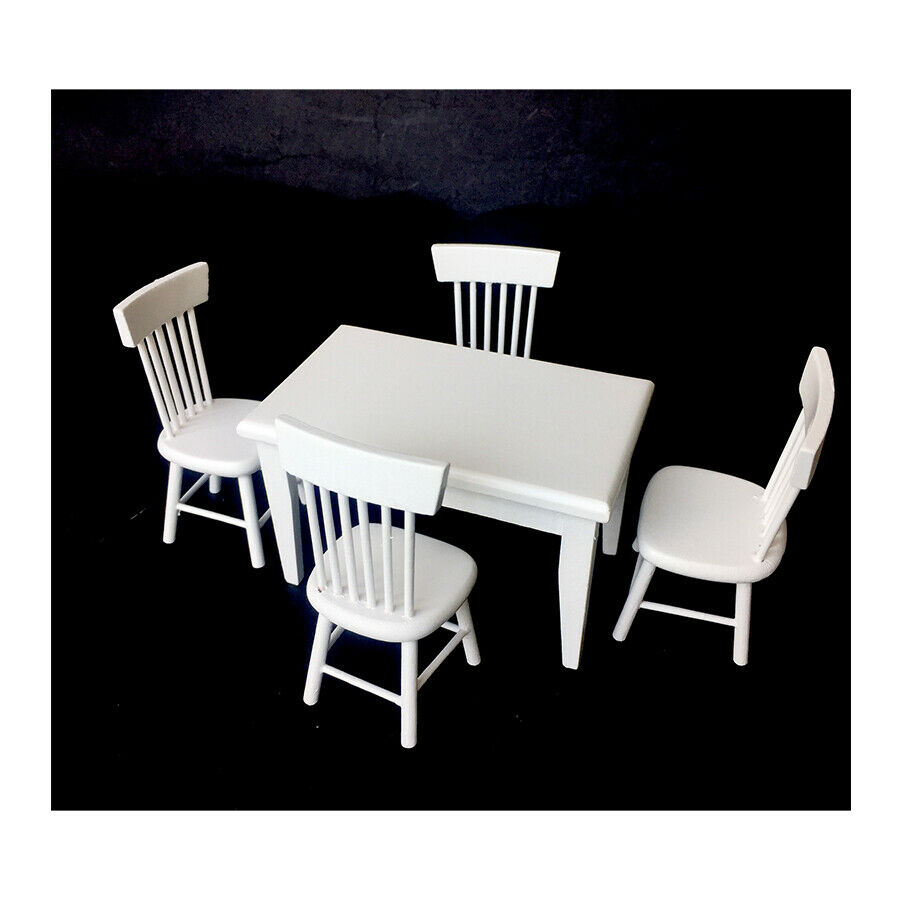 1 12 dollhouse dining room furniture set 5pcs dining table for 12 chair dining table set