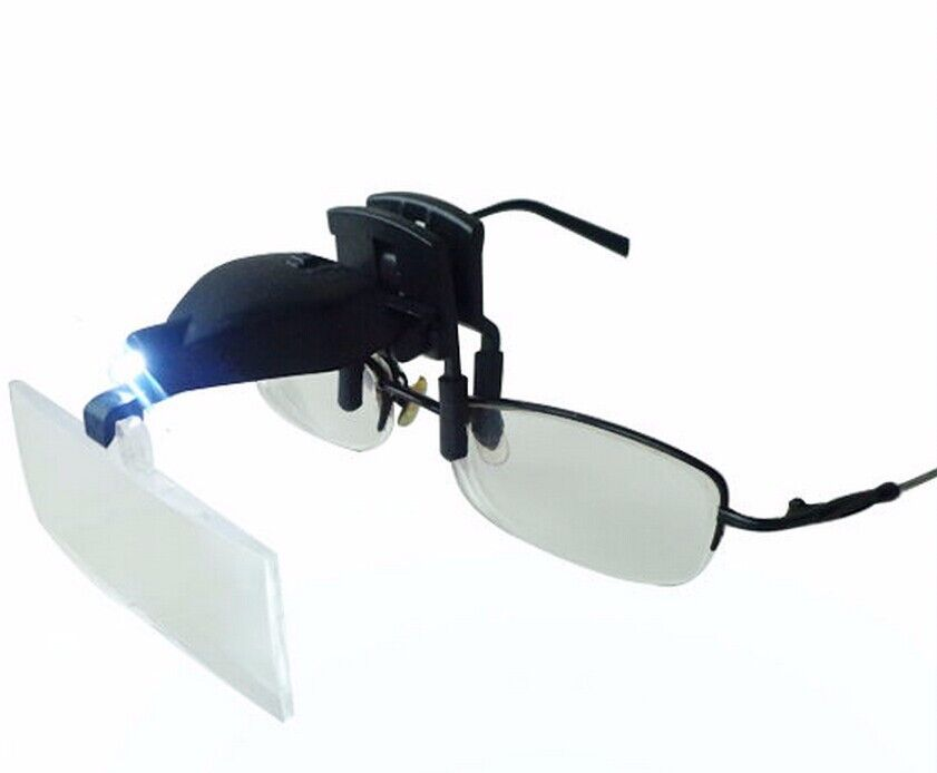 Clip-On 1.5X 2.5X 3.5X Eye Glasses Clip Magnifier Reading