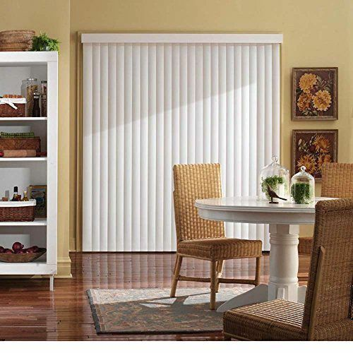vertical blind kit 78 by 84 inch wide window patio sliding door crown white new ebay. Black Bedroom Furniture Sets. Home Design Ideas