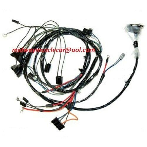 engine front end light wiring harness kit v8 69 pontiac firebird trans am t a ebay