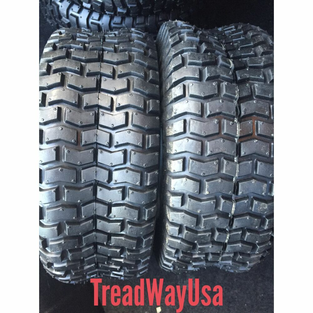 Two New Deestone D265 Turf Riding Lawn Mower Garden Tractor Tires Ebay
