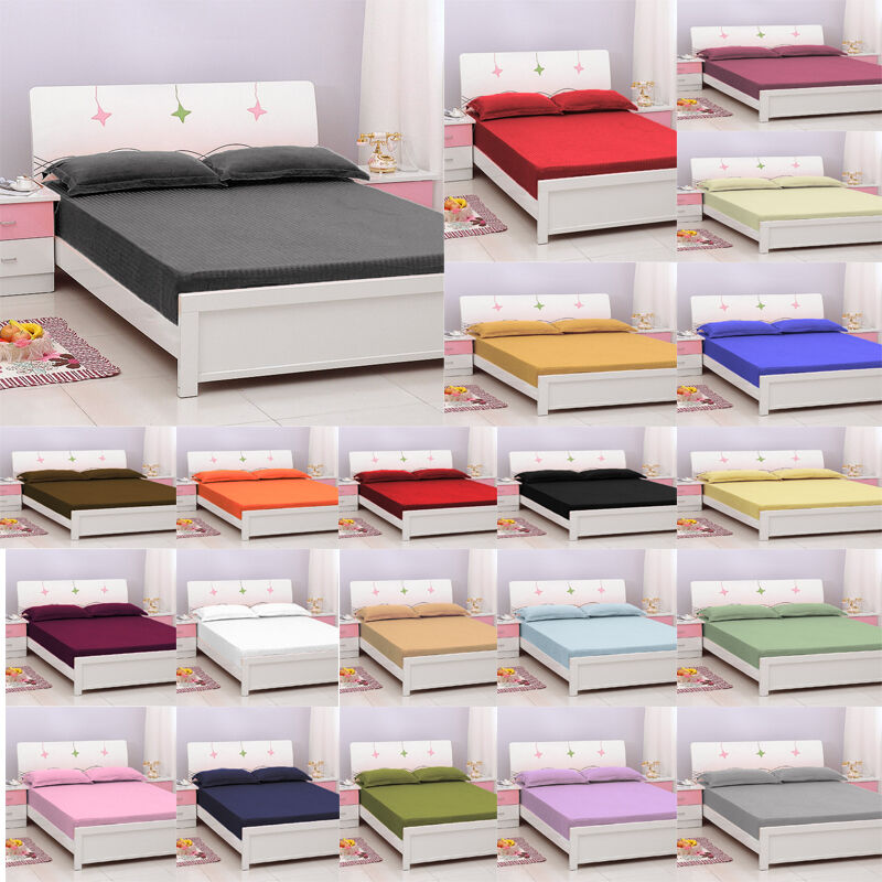 egyptian cotton queen fitted bottom sheet only striped with deep pocket 1000 tc ebay. Black Bedroom Furniture Sets. Home Design Ideas