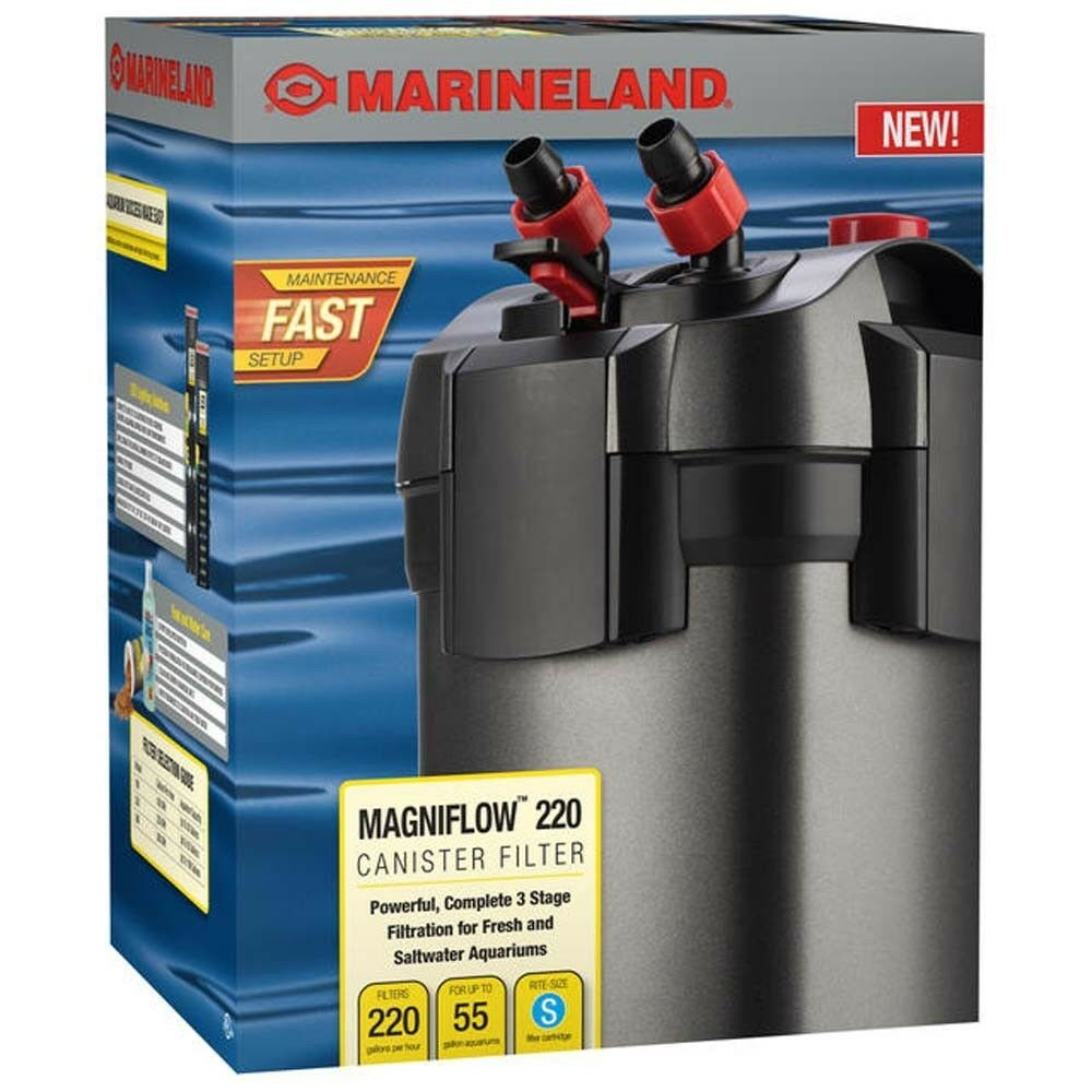 Marineland magniflow 220 canister filter ebay for Petco fish tank filters