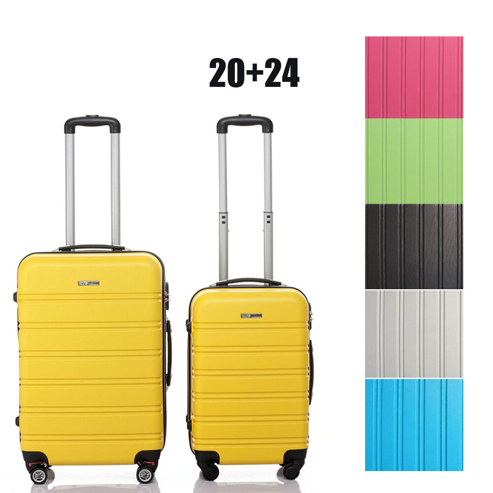 hard shell rolling luggage suitcase bag 4 wheels abs. Black Bedroom Furniture Sets. Home Design Ideas