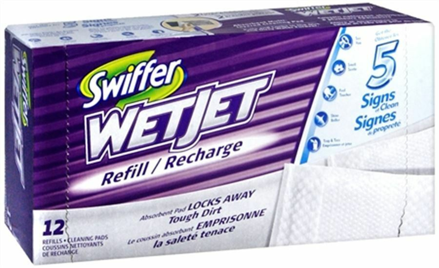 Swiffer Wetjet Cleaner Pads Refills 12 Each Ebay